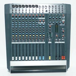 Allen & Heath PA 12 CP Powered mixer, 8 mono en 2 stereo kanalen, effecten, 2x 500w