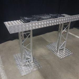 DJ Booth 150 x 50 cm, 100 cm werkhoogte