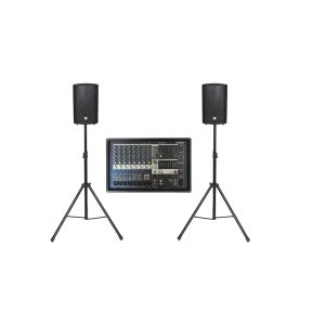 Huiskamerset, 2x ZX1 speakers en Powered mixer