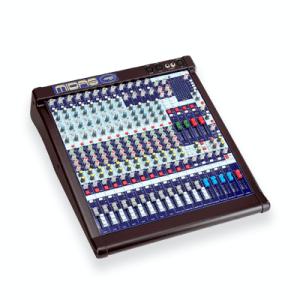 Midas Venice 160, 8 mono en 4 stereo kanalen, 6 mix sends, 4 subgroepen