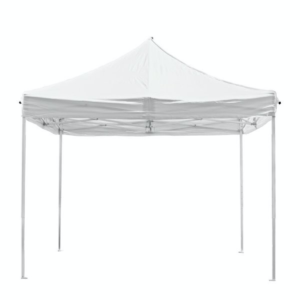 Party- regie tent 3×3 wit easy-up, incl 4 zijwanden