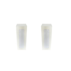 Set 2x witte sokkel 110 cm hoog, incl ingebouwd LED licht