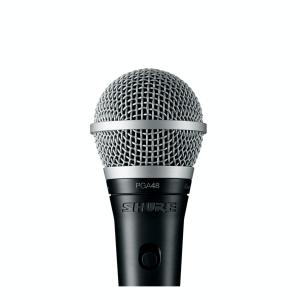 Shure PGA 48 microfoon, met switch