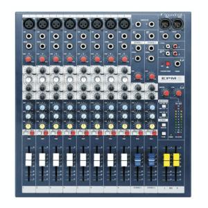 Soundcraft EPM 8, 8 mono en 2 stereo kanalen Mixer
